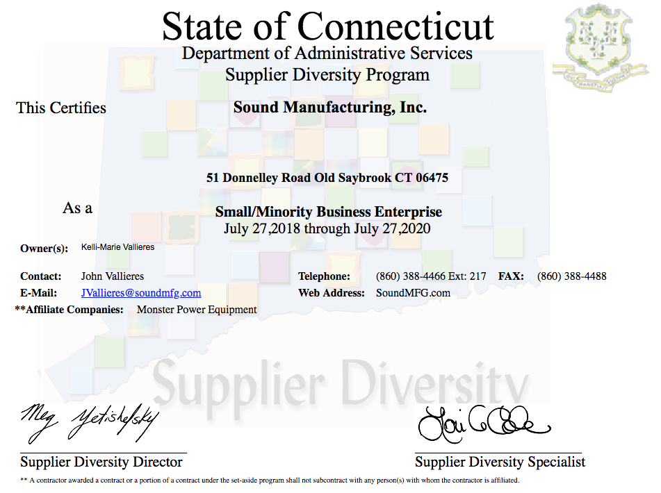 Minority-Owned Business CT Certification